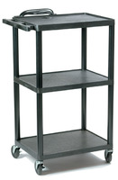 "Plastic AV Cart Adjustable from 16"" to 42"""