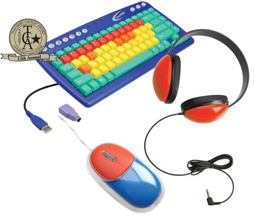 Califone Computer Keyboard, Mouse and Headphone