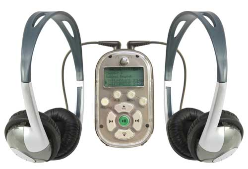 MP3 Player w/ two 8100-HP headphones