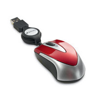 Optical Mini Travel Mouse (Red)