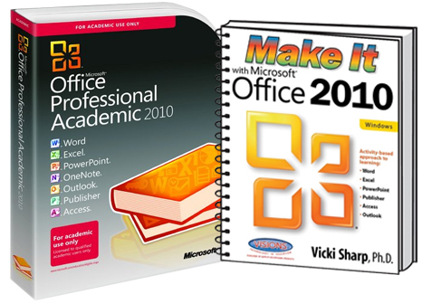 Microsoft Office Professional Academic 2010 and Make it with Microsoft Office 2010 for Win