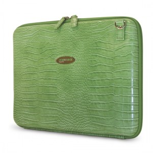"14.1"" Faux Croc Portfolio (Green)"