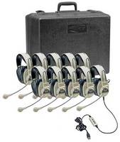 3066USB Deluxe Stereo Headset Classroom 10 Pack