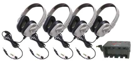 HPK-1020 Titanium Series Headphone Classroom 4 Pack