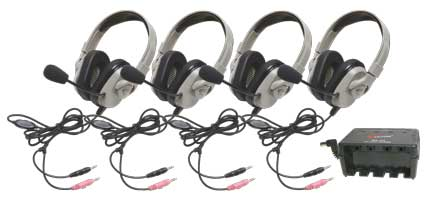 HPK-1030 Titanium Series Headphone Classroom 4 Pack