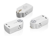 3 Outlet  Portable Power Adaptor with USB Charger