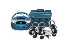 Deluxe USB, MP3, CD, Cassette Listening Center, 6 Station