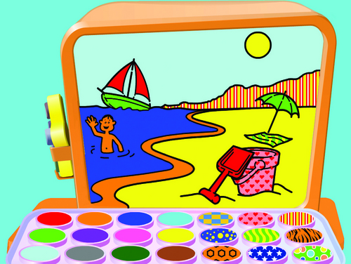 Stripy Tiger and Spotty Shark's Picture Box