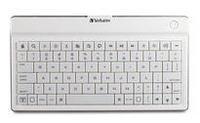 Ultra-Slim Bluetooth Wireless Mobile Keyboard (White)