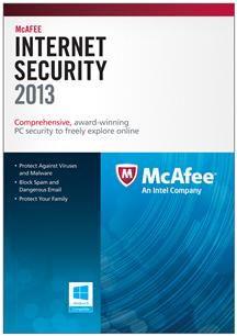 McAfee Internet Security 2013 3 User/1 Year for Win