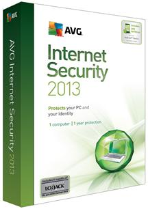 AVG Internet Security 2013 1 User/1 Year for Win