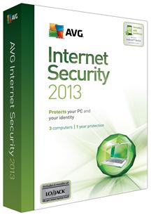 AVG Internet Security 2013 3 User/1 Year for Win