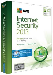 AVG Internet Security Plus PC TuneUp 2013 3 Users/1 Year for Win