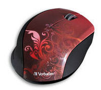 Wireless Optical Design Mouse (Red)