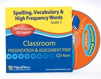 Grade 2 Spelling, Vocab & High Frequency Words Interactive Review Question CD (Site License)