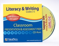 Grades 3 - 5 Literacy & Writing Interactive Review Question CD (Site License)