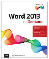 Word 2013 On Demand Book
