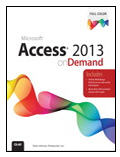 Access 2013 On Demand Book
