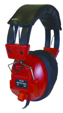AE-808 Over-Ear Headphones with Volume Control (Red)