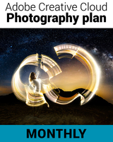 Creative Cloud Photography Plan (Includes Photoshop CC and Lightroom CC - One Year Subscription - Monthly Price)