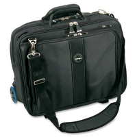 "17"" Contour Roller Notebook Case with Telescoping Handle (Black/Silver)"