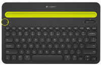 K480 Bluetooth Multi-Device Keyboard for Computers, Tablets and Smartphones (Black)