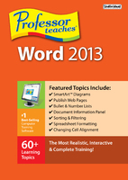 Professor Teaches Word 2013 (Electronic Software Delivery)