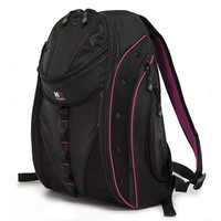 """17"""" SUMO Express Laptop Backpack (Black/Lavender)"""
