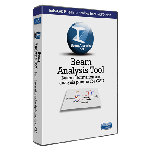 Beam Analyis Tool plug-in for TurboCAD  (Electronic Software Delivery)
