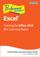 Professor Teaches Excel for Office 2016 (Home Edition) (Electronic Software Delivery)