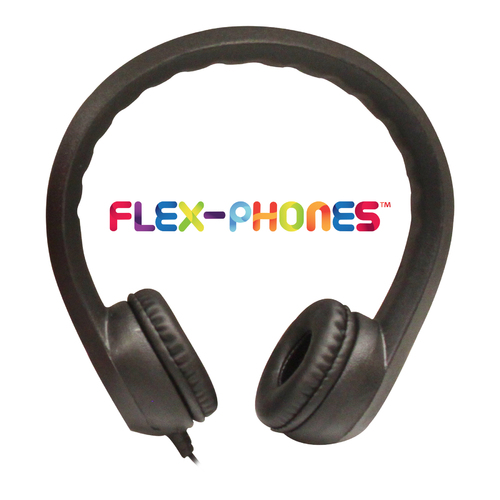 Flex-Phones, Foam Headphones, Black