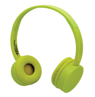 Yellow KidzPhonze Headset with In-Line Microphone (Yellow)