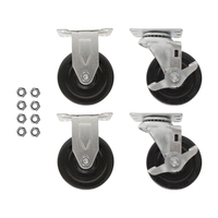 Set of 4 casters, two locking for PowerStackere Charging Station Modules