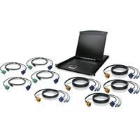 """Iogear 8-Port 19"""" LCD KVM Drawer Kit with USB KVM Cables"""