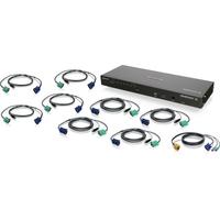 Iogear 8-Port IP Based KVM Kit with USB KVM Cables (TAA)