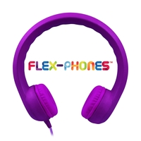 Flex-Phones, Foam Headphones, Purple