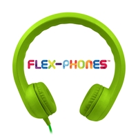 Flex-Phones, Foam Headphones, Green