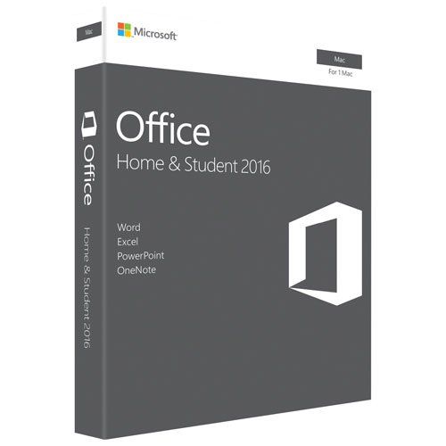 Office Home and Student 2016 for Mac (Electronic Software Download)