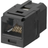 MINI-COM COUPLER CAT 5E BLACK
