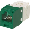 MINI-COM JACK CAT6 GREEN PRICED