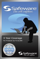 Safeware Coverage - $1001-$2000 - Extends to 4 years w/acc damage - Blue Card.