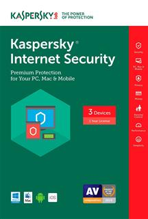 Kaspersky Internet Security 2017 (3 PC/1 Year) - electronic download