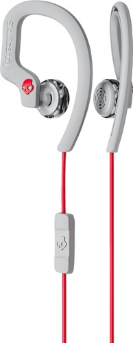 Skullcandy Chops Flex Ear Hook Headphones Gray/Red/Swirl