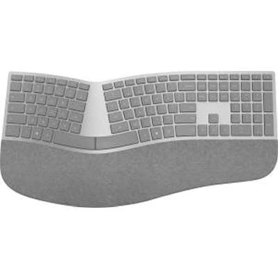 Microsoft Surface Ergonomic Keyboard - Wireless Connectivity - Bluetooth - Compatible with Notebook (Windows) - QWERTY Keys Layout - Gray BLUETOOTH ENGLISH US HDWR