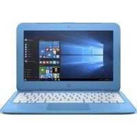 "HP Stream 14-ax000 14-ax010nr 14"" LCD Notebook - Intel Celeron N3060 Dual-core (2 Core) 1.60 GHz - 4 GB DDR3L SDRAM - 32 GB Flash Memory - Windows 10 Home - BrightView - Aqua Blue"