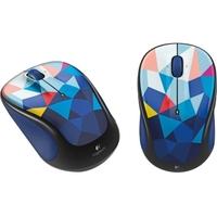 Logitech M325c Mouse - Optical - Wireless - Blue - USB - 1000 dpi - Computer - Tilt Wheel - 5 Button(s) - Blue Facets