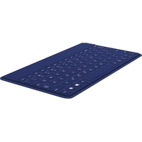 Logitech Ultra-portable, Stand-alone Keyboard - Wireless Connectivity - Bluetooth - Compatible with Tablet, Smartphone - QWERTY Keys Layout - Dark Blue