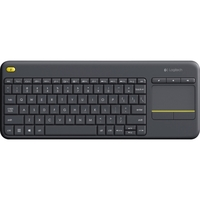 Logitech K400 Plus Touchpad Wireless Keyboard - Wireless Connectivity - USB InterfaceTouchPad - Compatible with Smart TV, Computer - Mute, Volume Up, Volume Down Hot Key(s) - QWERTY Keys Layout - Black