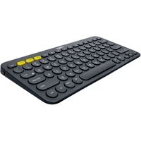 Logitech K380 Multi-Device Bluetooth Keyboard - Wireless Connectivity - Bluetooth - 79 Key - Compatible with Computer, Tablet, Smartphone, Smart TV - QWERTY Keys Layout - Black