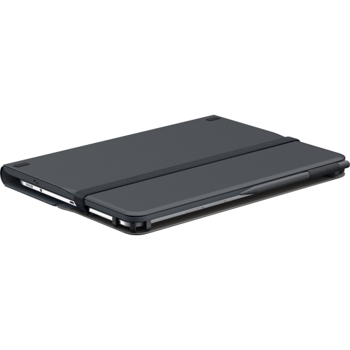 """Logitech Universal Folio Keyboard/Cover Case (Folio) for 10.5"""" Tablet, iPad Air, iPad 4, iPad 2, iPad 3, iPad Air 2, Digital Text Reader, iPad - Spill Resistant Shell, Water Resistant Exterior - 10.6"""" Height x 8.3"""" Width x 1"""" Depth"""